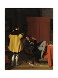 Aretino and the Envoy of Charles V Giclee Print by Jean-Auguste-Dominique Ingres