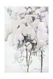 Snow-Covered Pine Saplings Giclee Print by Pekka Halonen