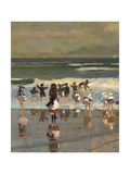 Beach Scene Giclee Print by Winslow Homer