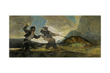 Fight with Cudgels Giclee Print by Francisco de Goya