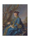 Louise Élisabeth of France (1727-175), Duchess of Parma, 1760 Giclee Print by Jean-Marc Nattier