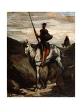 Don Quixote in the Mountains Giclee Print by Honoré Daumier