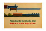 Main Line to the Pacific War. Southern Pacific Railroad, 1945 Giclee Print by  George Lerner & Lyman Power