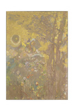 Trees on a Yellow Background, 1901 Giclee Print by Odilon Redon