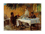 Breakfast in Sora Giclee Print by Peder Severin Krøyer