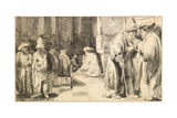 Jews in the Synagogue Giclee Print by  Rembrandt van Rijn