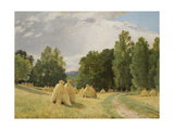 Haystacks, Preobrazhenskoe Reproduction procédé giclée par Ivan Ivanovich Shishkin