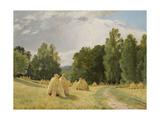 Haystacks, Preobrazhenskoe Giclee Print by Ivan Ivanovich Shishkin