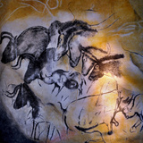 Painting in the Chauvet Cave, 32,000-30,000 Bc - Giclee Baskı