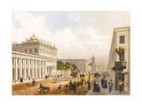 View of the Nevsky Prospekt in Saint Petersburg Giclee Print