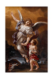 The Guardian Angel (After Pietro Da Corton) Giclee Print by Ciro Ferri