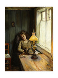 Tired Giclee Print by Christian Krohg