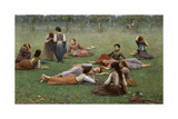 After the Game Giclee Print by Fausto Zonaro