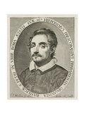 Portrait of the Composer Girolamo Frescobaldi (1583-164), 1634 Giclee Print by Claude Mellan