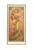 Spring (From the Series Les Saison) Giclee Print by Alphonse Mucha