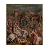 The Taking of Milan, 1555-1562 Giclée-Druck von Giorgio Vasari