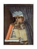 The Librarian Giclée-tryk af Giuseppe Arcimboldo