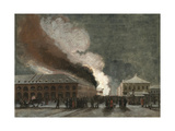 Fire in the Salt Trade Rows Giclee Print by Vasily Timm