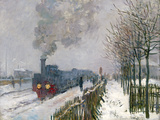 Train in the Snow Giclee Print by Claude Monet