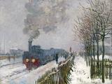 Train in the Snow Impressão giclée por Claude Monet