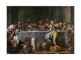 The Last Supper Giclee Print by Agostino Carracci