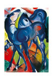 The Blue Foals Giclee Print by Franz Marc