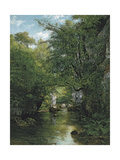 The Stream Reproduction procédé giclée par Gustave Courbet