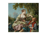The Wooden Shoes (Les Sabot), 1768 Giclee Print by François Boucher