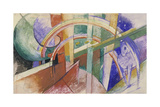 Blue Horse with Rainbow Giclee Print by Franz Marc