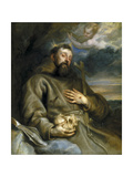 Saint Francis of Assisi in Ecstasy Giclee Print by Anthonis van Dyck