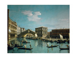 The Rialto Bridge Giclee Print by  Canaletto