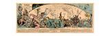 Carte Des Voyages Très Extraordinaires De Saturnin Farandoul Giclee Print by Albert Robida