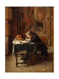 Young Man Writing Giclee Print by Ernest Jean Louis Meissonier