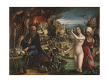 The Temptation of Saint Anthony Giclee Print by Pieter Coecke Van Aelst the Elder