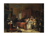 Reading of a Will Giclee Print by Jacob Joseph Eckhout