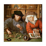 The Moneylender and His Wife Giclée-Druck von Quentin Massys