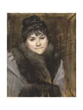 Portrait of Mme X, C. 1883-1884 Giclee Print by Maria Konstantinovna Bashkirtseva