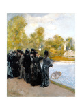The Pool in the Jardin Du Luxembourg Giclee Print by Giuseppe De Nittis