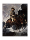 Bonaparte Crossing the Alps Giclee Print by Paul Hippolyte Delaroche