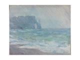 Rain in Étretat Giclee Print by Claude Monet