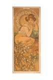 Topaz (From the Series the Gem) Giclee Print by Alphonse Mucha