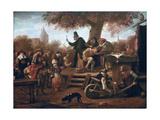 The Quacksalver Giclee Print by Jan Havicksz Steen