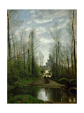 The Church of Marissel, Near Beauvais Giclee Print by Jean-Baptiste Camille Corot