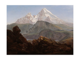 The Watzmann Giclee Print by Johan Christian Clausen Dahl