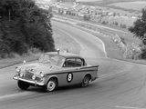 Sunbeam Rapier Racing at Brands Hatch, Kent, 1961 Papier Photo