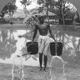 Watering Cans Used for Street Sprinkling, Burma, 1908 Photographic Print