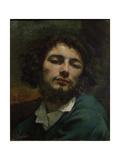 Auto-portrait Reproduction procédé giclée par Gustave Courbet