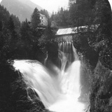 The Waterfall at Badgastein, Austria, C1900s Photographic Print by  Wurthle & Sons