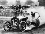 Duray Driving a De Dietrich in the Vanderbilt Cup, Long Island, NY, USA, 1906 Photographic Print