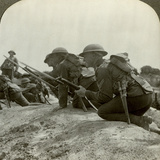 Canadian Infantry Rush a German Position, World War I, 1914-1918 Photographic Print
